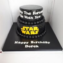 Star Wars humorous birthday cake