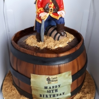 Captain Morgan's pirate birthday cake
