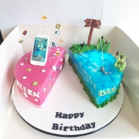 Dual theme birthday cake